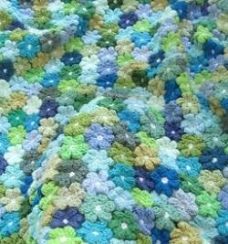 Crocheted Floral Blanket