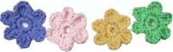 Crocheted Six Petal Flowers