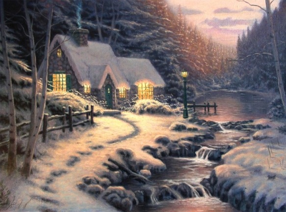 Kinkade Christmas Cottage