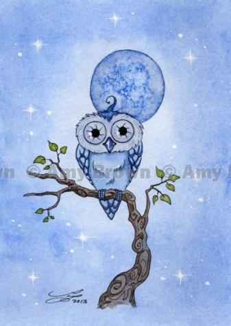 Blue Moon Owl