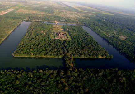 Angkor Wat Temple Ariel, Cambodia