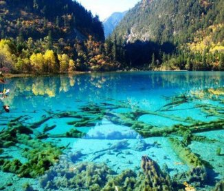 Crystalline Turquoise Lake, China