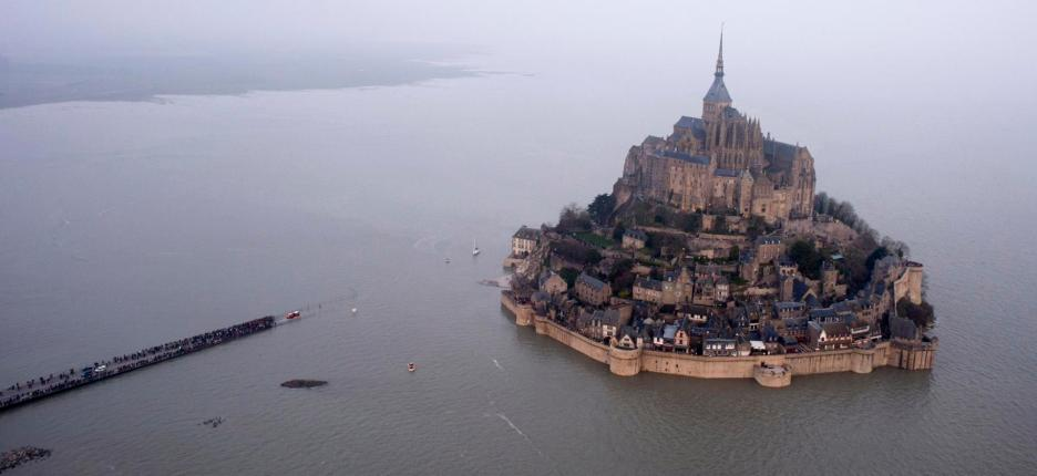 Mont Saint-Michel, High Tide, France
