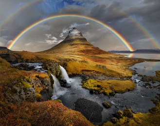 Rainbow over Kirkufell, Iceland