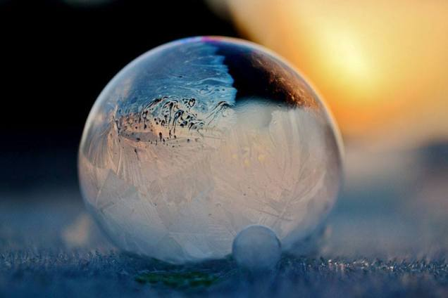 Soap Bubbles at -12 Degrees
