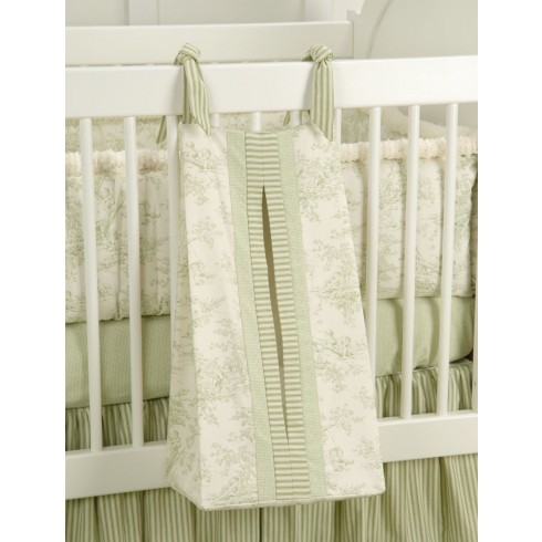 Baby Toile Green Diaper Stacker